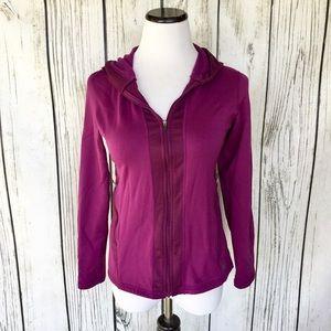 REI purple zip up sweatshirt